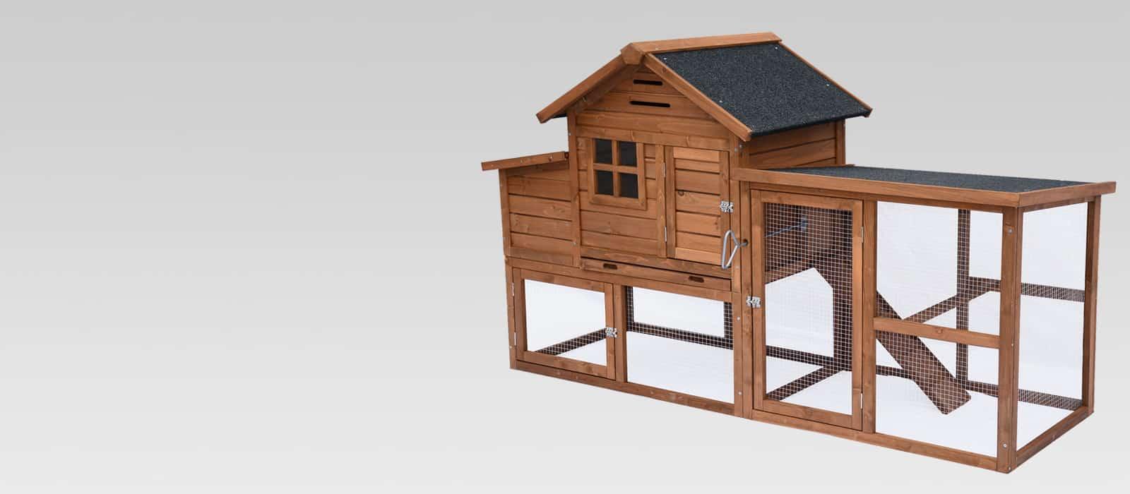 Poulailler pour 4 poules avec enclos, dortoir et pondoir