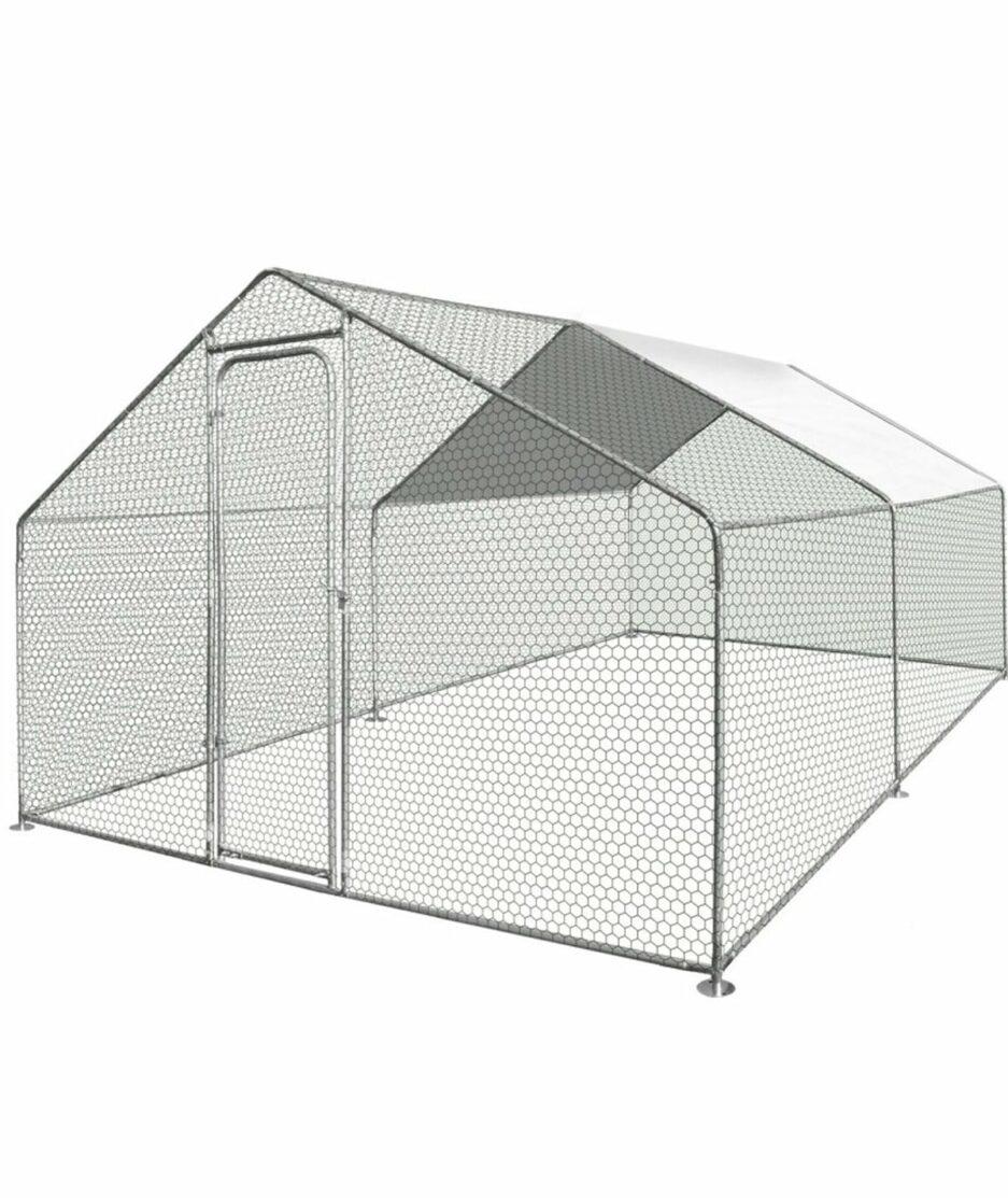 Enclos pour poules de 12m2 en acier galvanisé
