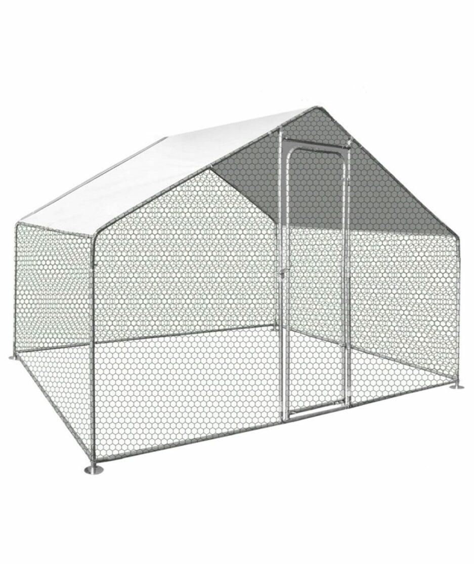 Enclos pour poules de 6m2 (2 poules) en acier galvanisé