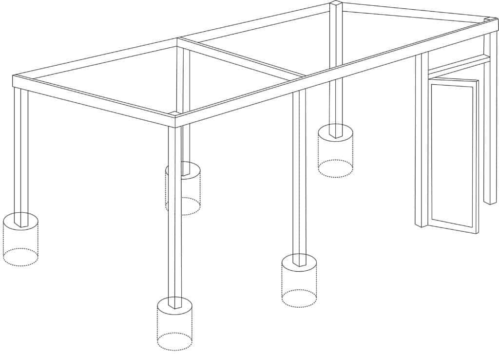 2.6 : Ajout des planches qui feront office de chevron