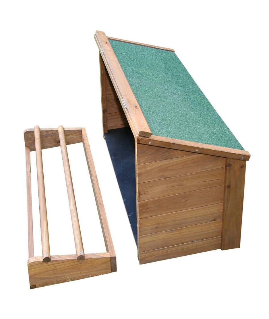 Un nichoir pour poules qui favorisera la ponte de vos poules (livré avec un perchoir en plus)