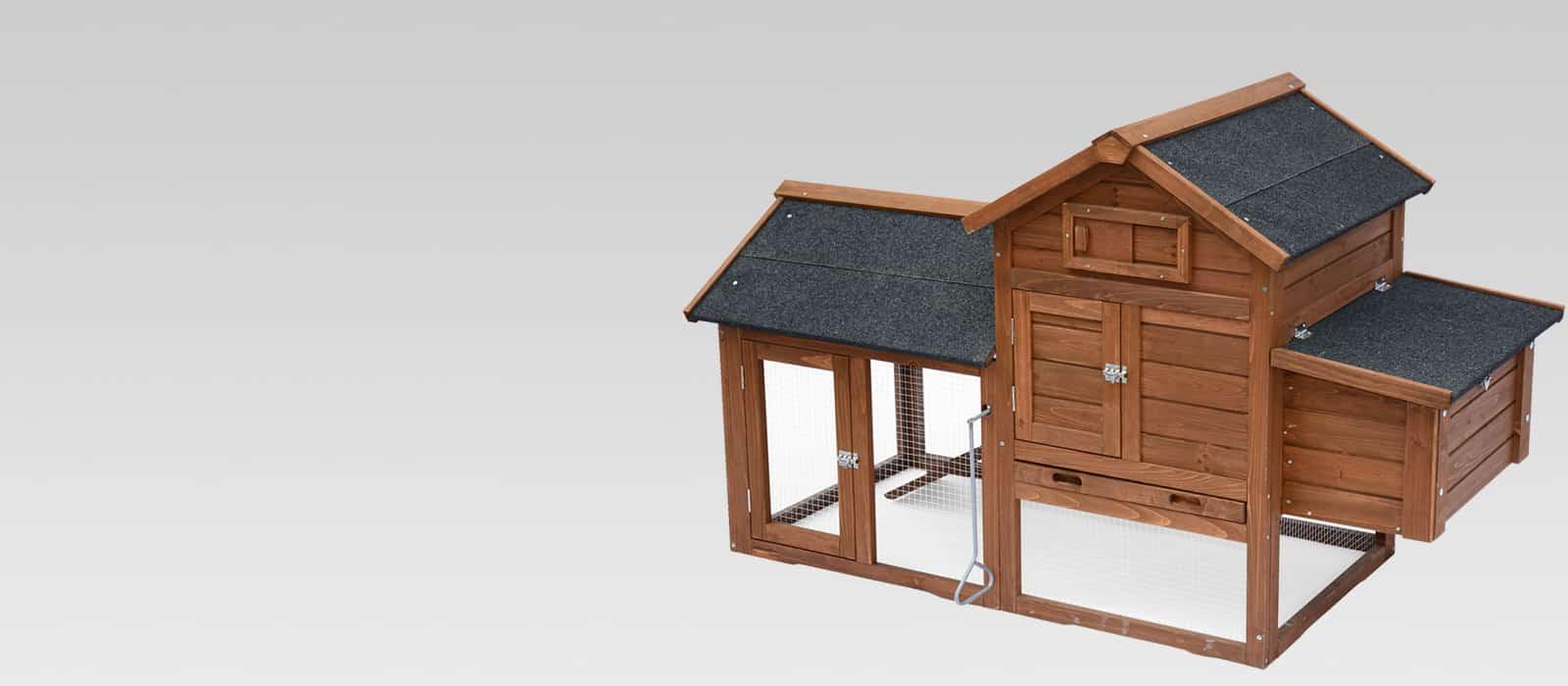 Poulailler pour 2 poules avec enclos, dortoir et pondoir