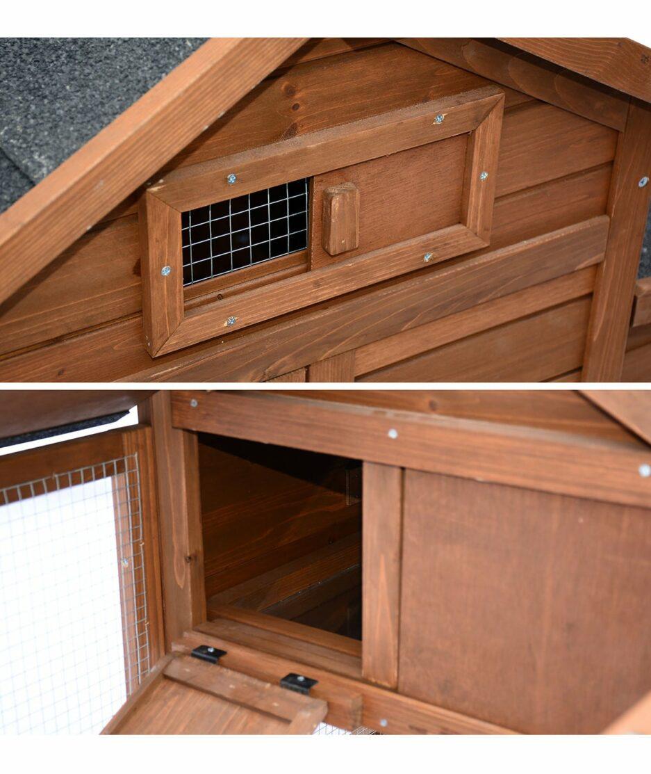 Poulailler 2 poules trappe d'aération et accès au dortoir